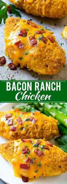 Bacon Ranch Chicken Recipe #RanchOut #ad @HVRanch @Walmart