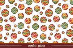 Polygonal circles. Seamless pattern.. Patterns