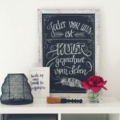Chalklettering Chalkboard Chalkpainting Chalkart Lettering Kreide Kreidetafel blackboard Deko Schwarz