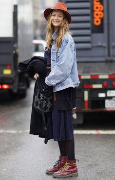 behati prinsloo denim jacket street style