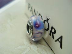 "AUTHENTIC PANDORA "" oxygen "" Retired Murano Glass Bead # 780208..."