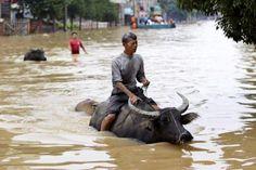 #inundacion en china 2010. #flood #nature