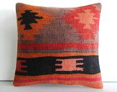 DECORATIVE PILLOW Decorative Throw Pillow Kilim Pillow Cover Turkish Cushion Accent pillow Case boho floor outdoor bohemian tribal ethnic 16