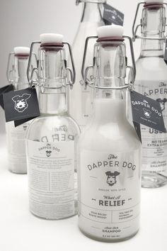 The Dapper Dog- Glass bottle packaging