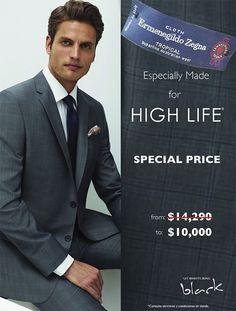 Especially Made for High Life: Trajes Importados exclusivos para High Life el precio es especial para socios Black