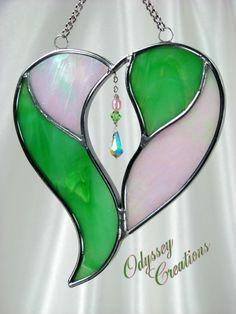 Multimedia Stained Glass Heart Suncatcher in by OdysseyCreations, $19.95