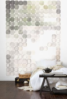 omigod this is freaking gorgeous. i am going to do something like this for my apartment. that wall is just, oh my god.