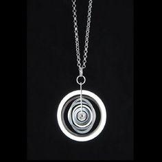 """Unconventional Jewelry — Tapio Wirkkala for Kultakeskus Oy (FI), """"Silver..."""