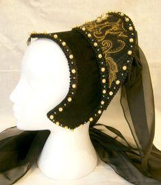 Renaissance French Hood Tudor Anne Boleyn di CadwaladrCostumes
