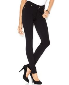7 For All Mankind High-Waisted Black Wash Skinny Jeans - Black 31