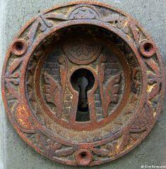 rusting key hole...