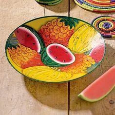 Tutti-Frutti+Painted+Metal+Bowl