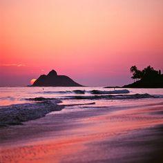 purple sunrise, kailua, oahu, hawaii