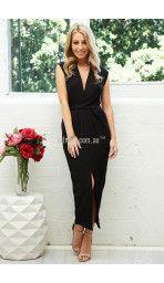 Addison Maxi Dress in Black
