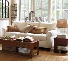 Kinda like this PB sofa- plus its on SALE!