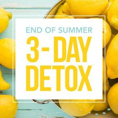 Get Back On Track With This End Of Summer 3-Day Detox