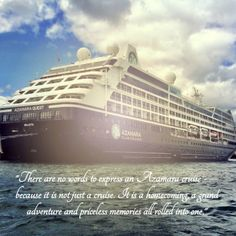 A quote from an Azamara cruise guest!