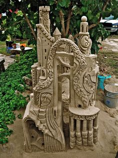 """One of Walter's Yard Sand Castles""  - Amazomg! (i kept trying to type Amazing but it kept coming out  like that, so i decided it was appropriate! lol)"