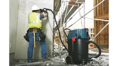 Bosch  provides a portable solution for jobsite dust and dirt collection with its VAC090S and VAC090A 9-gal.vacuums and VAC140S and VAC140A 14-gal.vacuums. All vacuums offer semiautomatic and automatic filter cleaning systems, eliminating the need for filters to be cleaned by hand. Each device features integrated cord and hose storage solutions and a wet vacuuming water level sensor.
