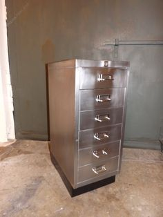 Antiques Atlas - Mid Century Polished Metal Filing Cabinet