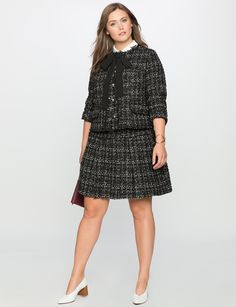 Studio Tweed Trumpet Skirt | Women's Plus Size Skirts | ELOQUII