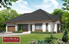 Projekt domu Maciejka, wizualizacja 1 Exterior House Colors, Planer, Gazebo, Outdoor Structures, Outdoor Decor, Home Decor, Style, Home Plans, Kiosk
