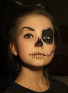 In need of fab, easy and cheap Halloween costume idea for your kids? Don't worry - we've got them sorted. Look below for some brilliant ideas from our very own Netmums. More Halloween Makeup For Kids, Cheap Halloween Costumes, Scary Halloween, Halloween Ideas, Face Paint For Halloween, Kids Skeleton Face Paint, Halloween Recipe, Women Halloween, Halloween Party