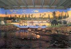 This beautiful mural is located at the bridge at 1 Jefferson Ave., Chippewa Falls, WI.
