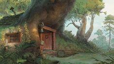 """Winnie the Pooh"" by Paul Felix*  Background Art | © Walt Disney Animation Studios"