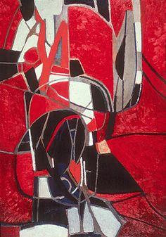 The Thread, 1962. By Françoise Gilot (France, born 1921). Oil on canvas.