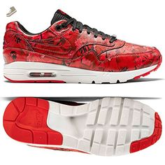 Nike Women's Wmns Air Max 1 Ultra LOTC QS, SHANGHAI FLORAL-CHALLENGE RED/CHLLNG RD-SMMIT WHITE-BLACK, 8.5 US - Nike sneakers for women (*Amazon Partner-Link)
