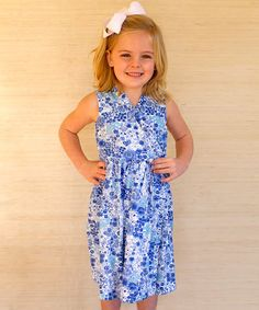 Another great find on #zulily! Wild Blue Floral Ruffle Wrap Dress - Infant & Toddler #zulilyfinds