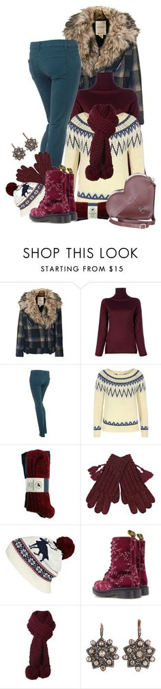 """""""Layering Plaid Coat Contest Entry 3"""" by girlyideas ❤ liked on Polyvore featuring Denim & Supply by Ralph Lauren, P.A.R.O.S.H., Paige Denim, Jack & Jones, River Island, Dr. Martens, Dickins & Jones and MUNNU The Gem Palace"""
