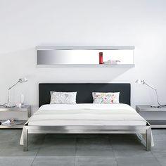 Pure Bett mit gepolstertem Kopfteil 180 -  - A048787.000