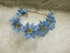 Blue Daisy Faux Braided Leather by amayasgroovyboutique on Etsy