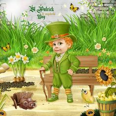 St Patrick, A Wonderful Day by Kitty Scrap