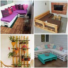 Como decorar a casa com pallets - Como Plantar e Cuidar Outdoor Furniture Sets, Outdoor Decor, Coastal Decor, Home Decor, Mini, Beach, New Ideas, Pallet Ideas, Wooden Chest