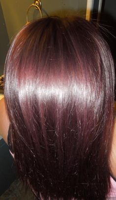 Finally got the color i've been wanting for awhile now, love it!  *Dark brown base with a red/violet tint*