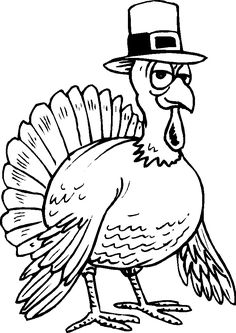funny turkey coloring pages for kids: funny turkey coloring pages for kids