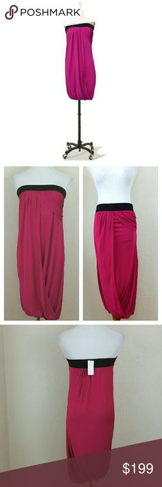Last Chance Y Yigal  Draped Strapless Dress Y Yigal Intermix Fuchsia Draped Strapless Dress. Can also be worn as skirt. Y Yigal sz 1. Can fit S/M. NWT.  No trade or PP  Offers Considered  Bundle discounts Yigal Azrouel Dresses