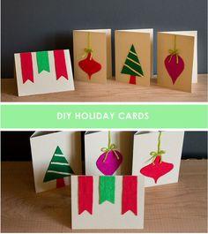 Εύκολη Felt Εορταστικές κάρτες