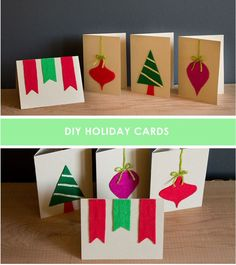 Easy Felt Holiday Cards / 49 Awesome DIY Holiday Cards (via BuzzFeed)