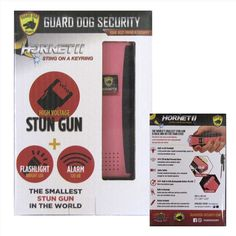 Hornet II Rechargeable Keychain Stun Gun, LED Light and Alarm Pink - Street Smart Self Defense Products For Women