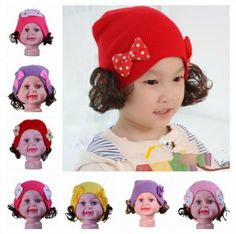 Knitting and Wigs Winter Warm Unisex Baby Skull Hat Caps