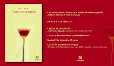 Antítesis Editorial: PRESENTACIÓN DE Cantos de la Mañana, de Delmira Ag...