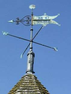The metal weathervane at the top of the tower at Sissinghurst