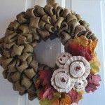 DIY: Burlap Wreath   -50 yes Fifty Fall Wreath Ideas & Inspiration - DIY Crafty Projects