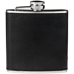 BLACK BROWN 1826 Leather Flask (23 AUD) ❤ liked on Polyvore featuring home, kitchen & dining, bar tools, fillers, accessories, black, drinks, other, leather flask and drinking flask