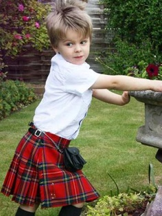 Scottish Boy in Kilt...what a cutie..