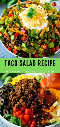 56 clean eating no bake snacks - Clean Eating Snacks Taco Salad Recipes, Healthy Salad Recipes, Lunch Recipes, Gourmet Recipes, Mexican Food Recipes, Cooking Recipes, Soup And Sandwich, Summer Salads, Soup And Salad